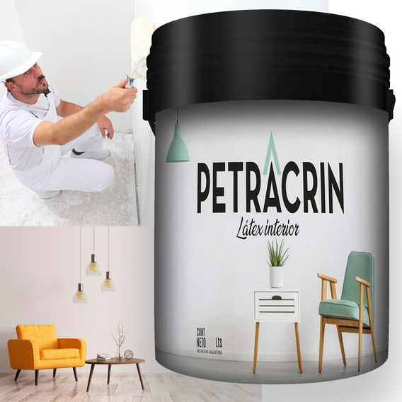 Pintura Latex Petracrin Latex Interior 20 Lts