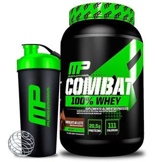 Combat 100% Whey Muscle Pharm Mp 900g Coqueteleira