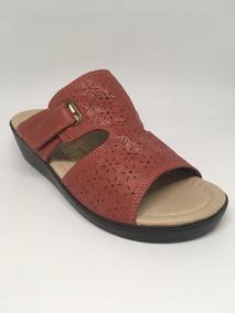 Sandalia De Cuero - Calzado De Cuero Para Dama