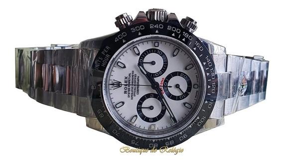 Relógio Eta Sa4130 Mod Daytona White Ceramic Aço 904 Noob V2