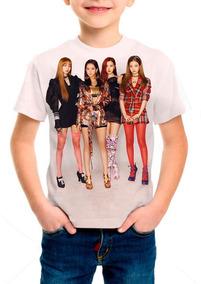 Camiseta Infantil K-pop Black Pink - M01
