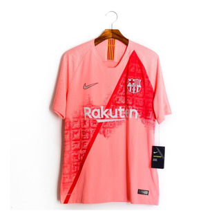 Camisa De Futebol Masculino Barcelona 18/19 Nike Vaporknit