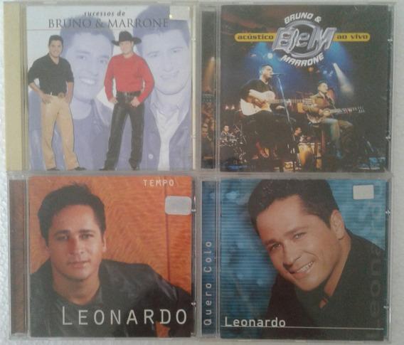 Bruno E Marrone / Leonardo - 04 Cds- Nova Promoção