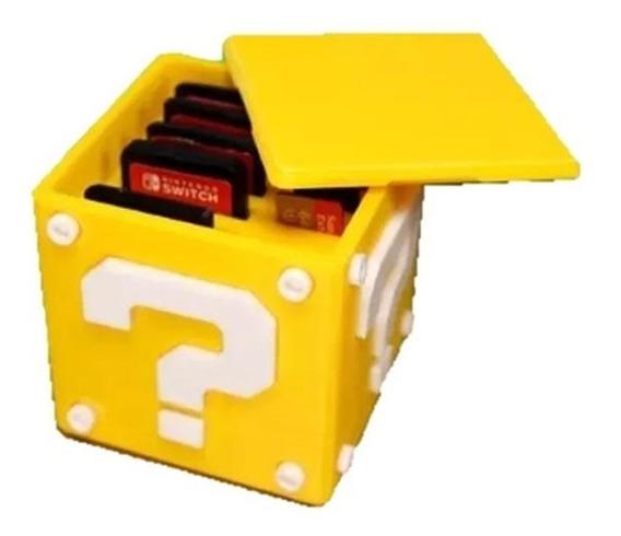 Caixa Super Mario Para Jogos Nintendo Switch Porta Jogos