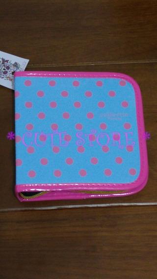 Porta Cd Case Para Cd / Dvd Com 24 Espaços Azul Poá Rosa