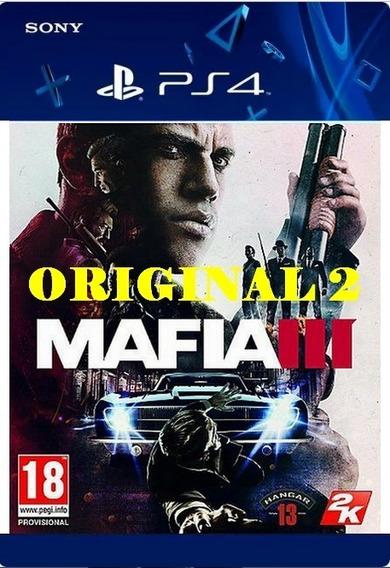 Mafia 3 - Psn Code 2 Envio Já