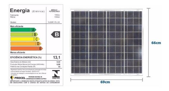 Controlador Painel Placa Energia Solar Fotovoltaica 55 W