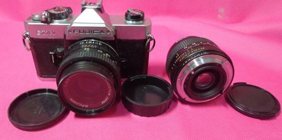Camera Fujica Stx-1 Com 2 Lentes - Ler Anuncio - Decoração