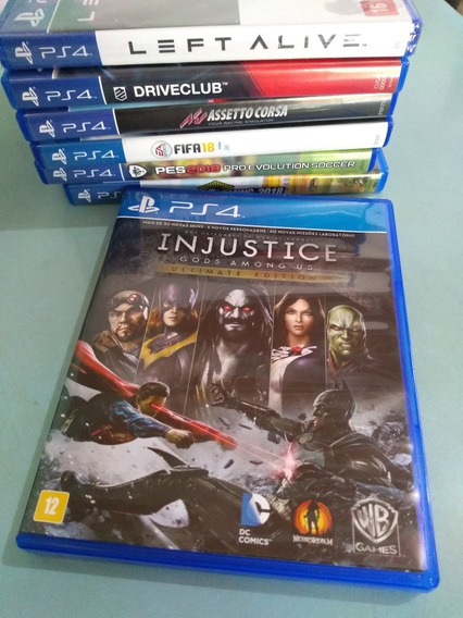 Game Ps4 Injustice Gods Amoug Mídia Física