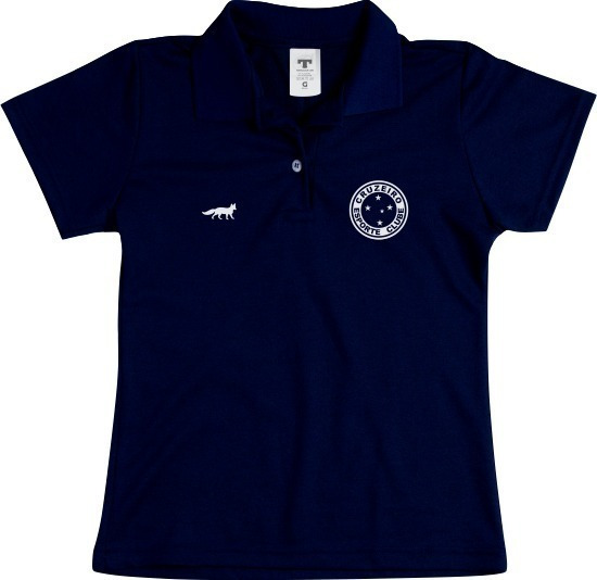 Camiseta Camisa Polo Feminina Torcedor Cruzeiro Raposa