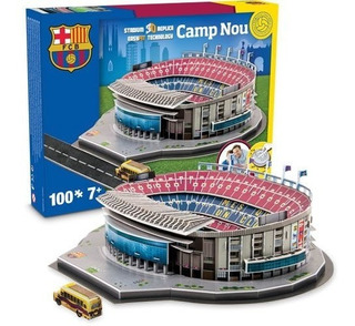 Maqueta Estadio 3d Para Armar! Cancha Barcelona !!camp Nou !