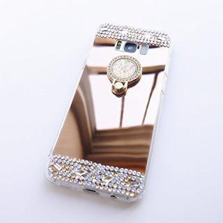 Samsung S9 Plus Mirror Case, Dmaos Lady Diamond Ring Cubiert