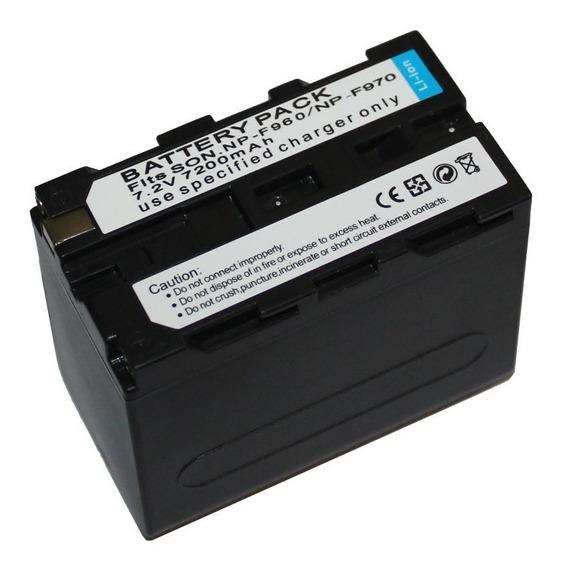 Bateria + Carregador F970 7200 Mah Yn360 Yn600 Yn300 Ttv204