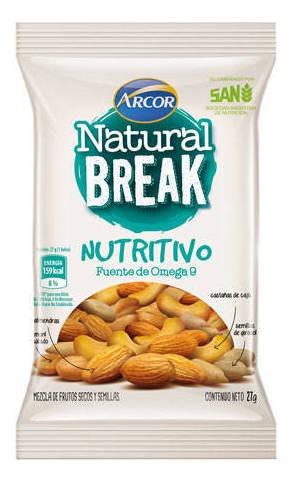 Snack Natural Break Nutritivo X 27 Grs