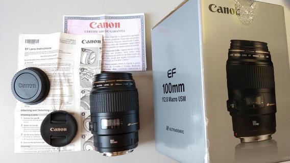 ## Lente Canon Ef 100mm F/2.8 Macro Usm 100mm 2.8 Garant Loj