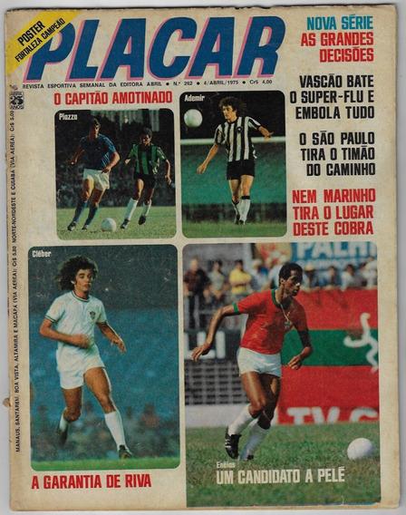 1975 Revista Placar Nº 262 Abril Pôster Fortaleza Campeão
