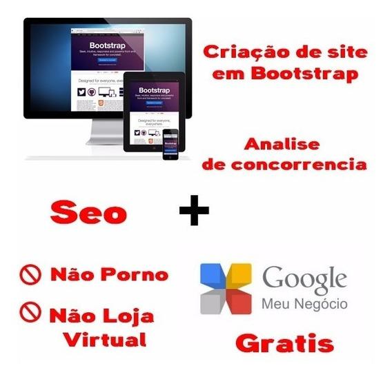 Criação De Site Em Bootstreep + Google Meu Negocio + Seo
