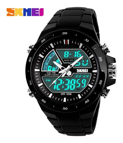 Relógio Masculino Esportivo Digital Skmei 1016 Preto/dourado