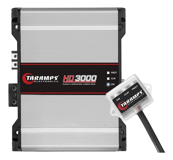 Modulo Taramps Hd 3000 1 Ohm 3000w Amplificador Automotivo