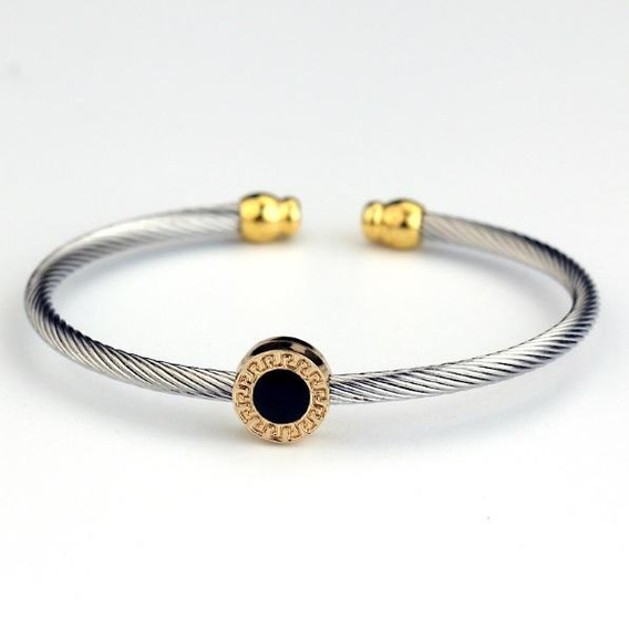 Pulseira De Aço Inox Feminina Banhada Bracelete Feminino Top