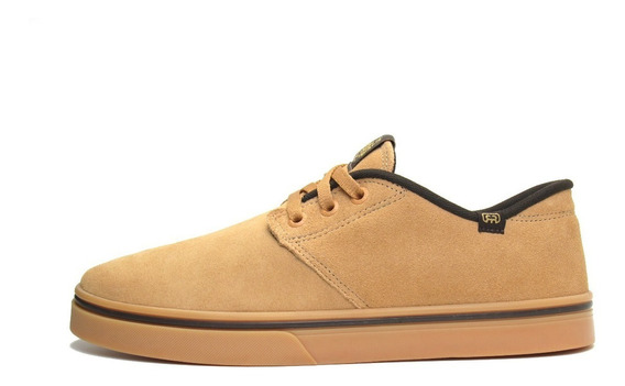 Tênis Hocks De Skate Del Mar Triple Black - Camel Natural