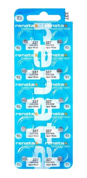 Pilhas Baterias 337, Relógio 1.55v Renata Sr416s Original 10