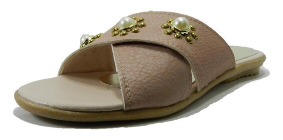 Sandalia Baja Con Perlas Dama Ladyanna Sintético Nude 3058