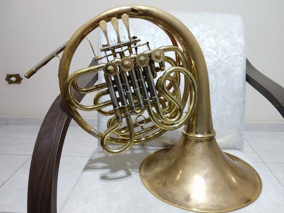 Trompa Dupla Conductor Fa/sib Dourada - Oferta -
