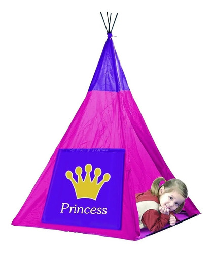 Imagen 1 de 3 de Carpa Casita Infantil India Princesas Nena Educando