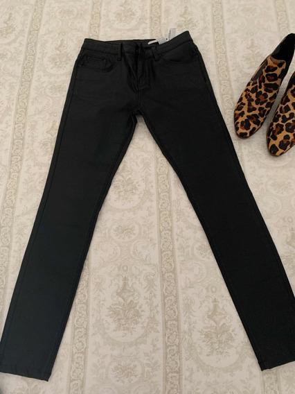 Pantalon Eco Cuero Pantalones Mujer Zara Pantalones, Jeans