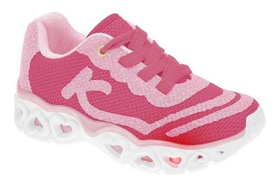 Tênis Infantil Menina Kidy Light Girl Pink E Rosa