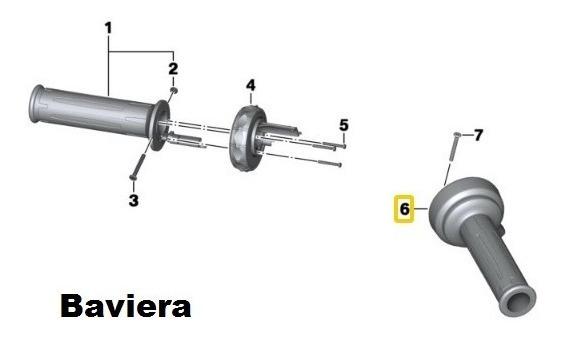 Manopla Direita Do Acelerador Moto Bmw R1200 Gs / F850 Gs