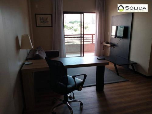 Imagem 1 de 8 de Flat Com 1 Dormitório Para Alugar, 65 M² Por R$ 2.500/mês - Centro - Jundiaí/são Paulo - Fl0038