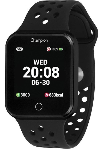 Relógio Champion Smartwatch Bluetooth 4.0 Preto