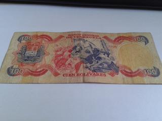 Billetes De 100 Bs. Coleccionable De Los Años 80 Usado