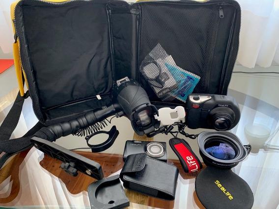 Camara-estanco Sealife Y Dc1400 Y Flash Digital Pro Sealife