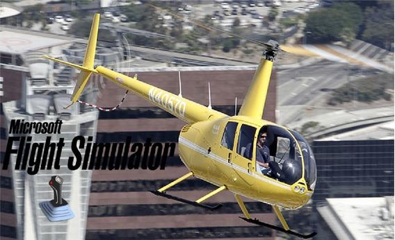 Simulador De Voo Completo Com Aeronaves E Helicóptero R44