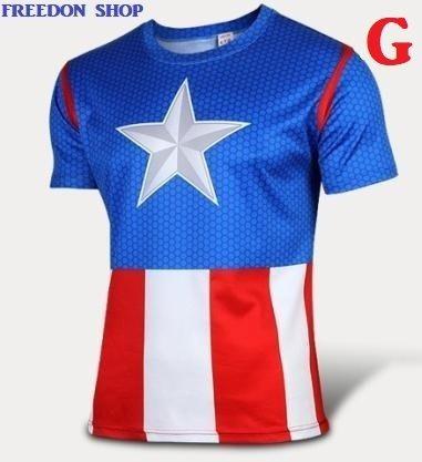 Camiseta Capitão América Casual Estampa Tam-g Pronta Entrega