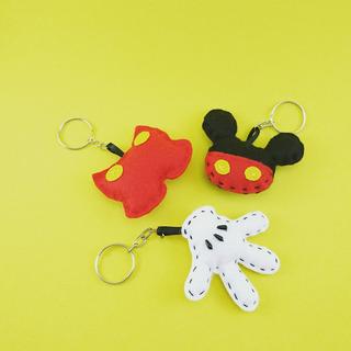 10 Chaveiros Mickey Feltro Lembrancinha