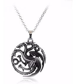 Colar Game Of Thrones Daenerys Targaryen 3 Cabeças Do Dragão