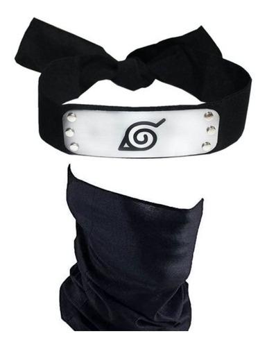 Imagen 1 de 6 de Cosplay Naruto Disfraz Banda Hoja Cubreboca Kakashi Mascara
