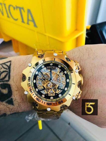 Relógio Invicta Venom Hybrid Dourado Com Garantia Em 12x Sem Juros