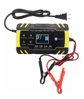 Cargador De Bateria Portátil Moto Y Carro 12 Y 24 Volt A 8 Amp Nuevo