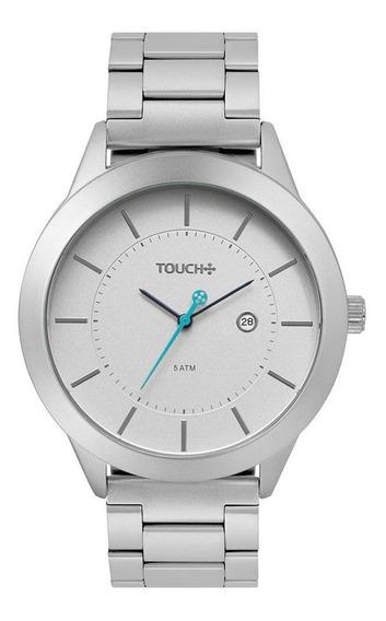 Relógio Touch Unissex Dindo Prata