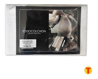 Funda Almohada Impermeable Toalla Pvc Con Cierre La Mejor 100 % Algodon Con Pvc