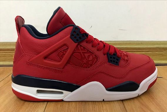 Tênis Jordan 4 Retro Fiba Gym Red Obsidia 42 Us10