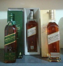 Whisky Johnnie Walker Blue Label Green Platinium Gold Chivas