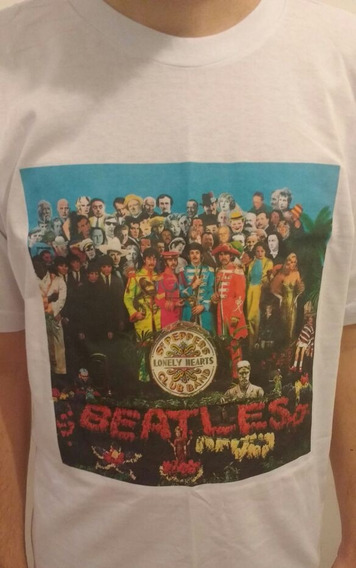 Camiseta Álbum Lp Dos Beatles - Sgt Peppers - M