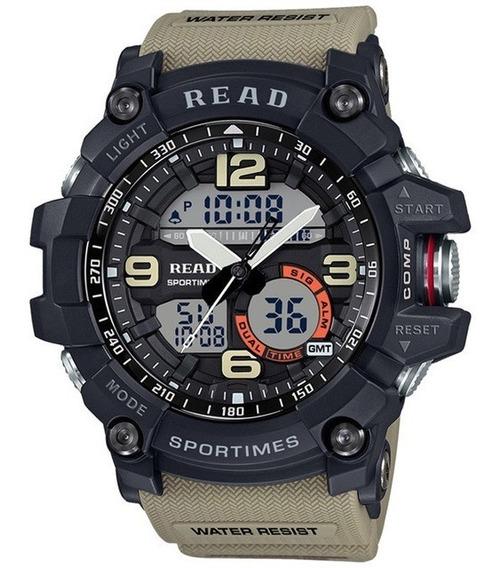 Relógio Masculino Read Esportivo Militar Cáqui Super Oferta