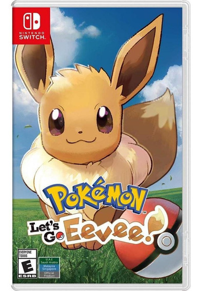 Pokemon Lets Go Eevee Switch Mídia Física Novo Lacrado